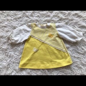 Vintage yellow butterfly top